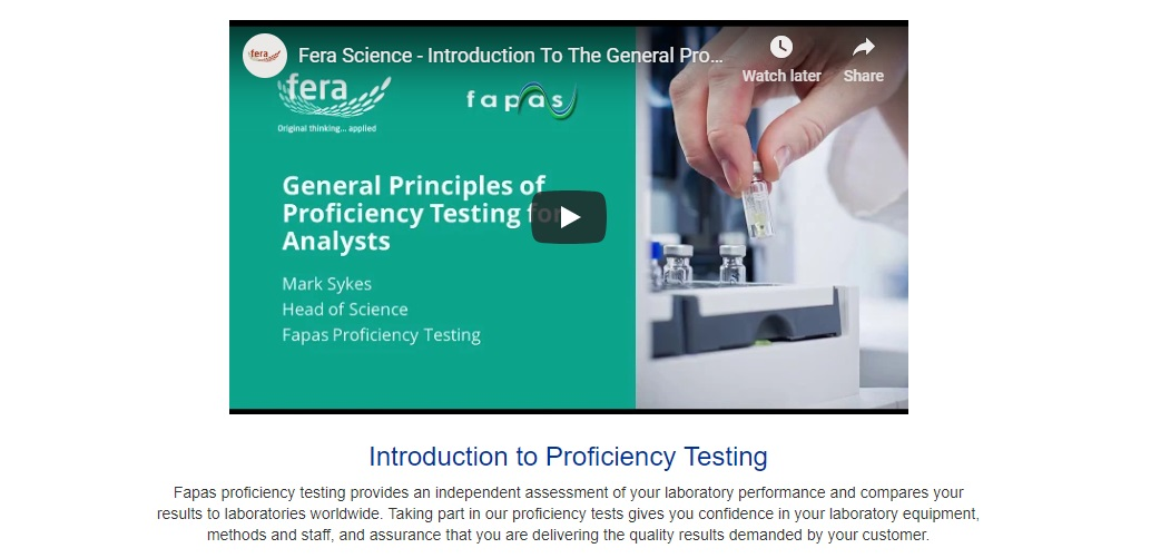 Proficiency Testing video